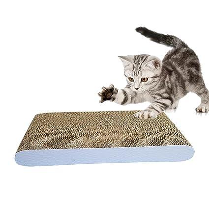 Rascador para Gatos Alfombrilla Rascadore Almohadilla de Gato 15inches de Altura Durable Reciclable de Cartón