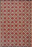 Mad Mats Scotch Indoor/Outdoor Floor Mat, 6 by 9-Feet, Cranberry