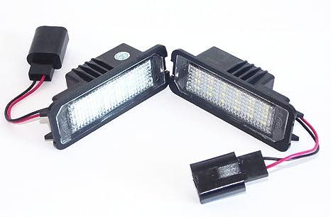 Luz de matrícula LED