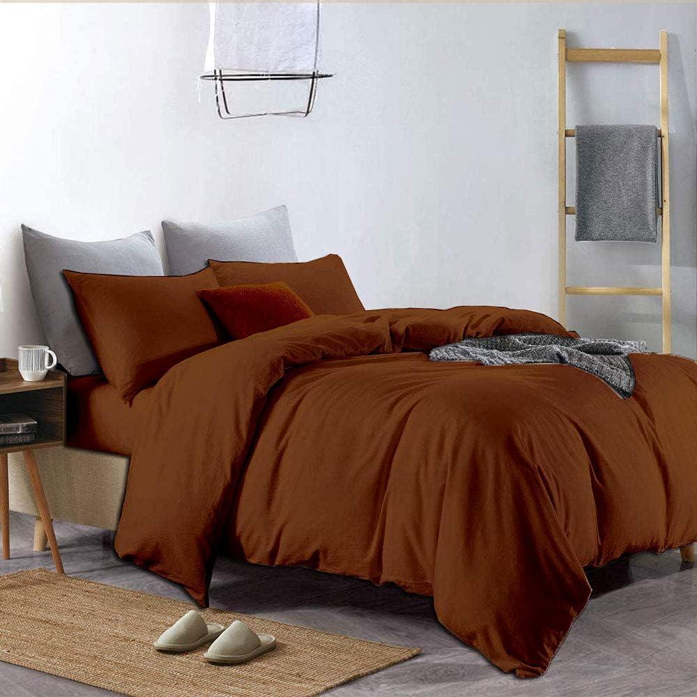 Premium Quality Financial sales sale Excellent 3-Piece Duvet Cover Set Hidden with Closu Zipper