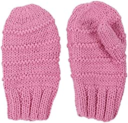 2H Hand Knits Baby Girls\' Knit Mittens - Wild Orchid - Small