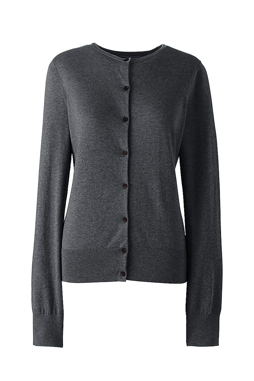 Lands End Womens Plus Size Supima Cotton Cardigan Sweater