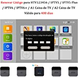 16-Digit Brazil TV Box Renew Code for IPTV Brazil / IPTV5 / IPTV6 / IPTV5 Plus / IPTV6 Plus / A2 TV Box Brazil Brazilian TV Box Activation Code Subscription Service Valid for 400 Days