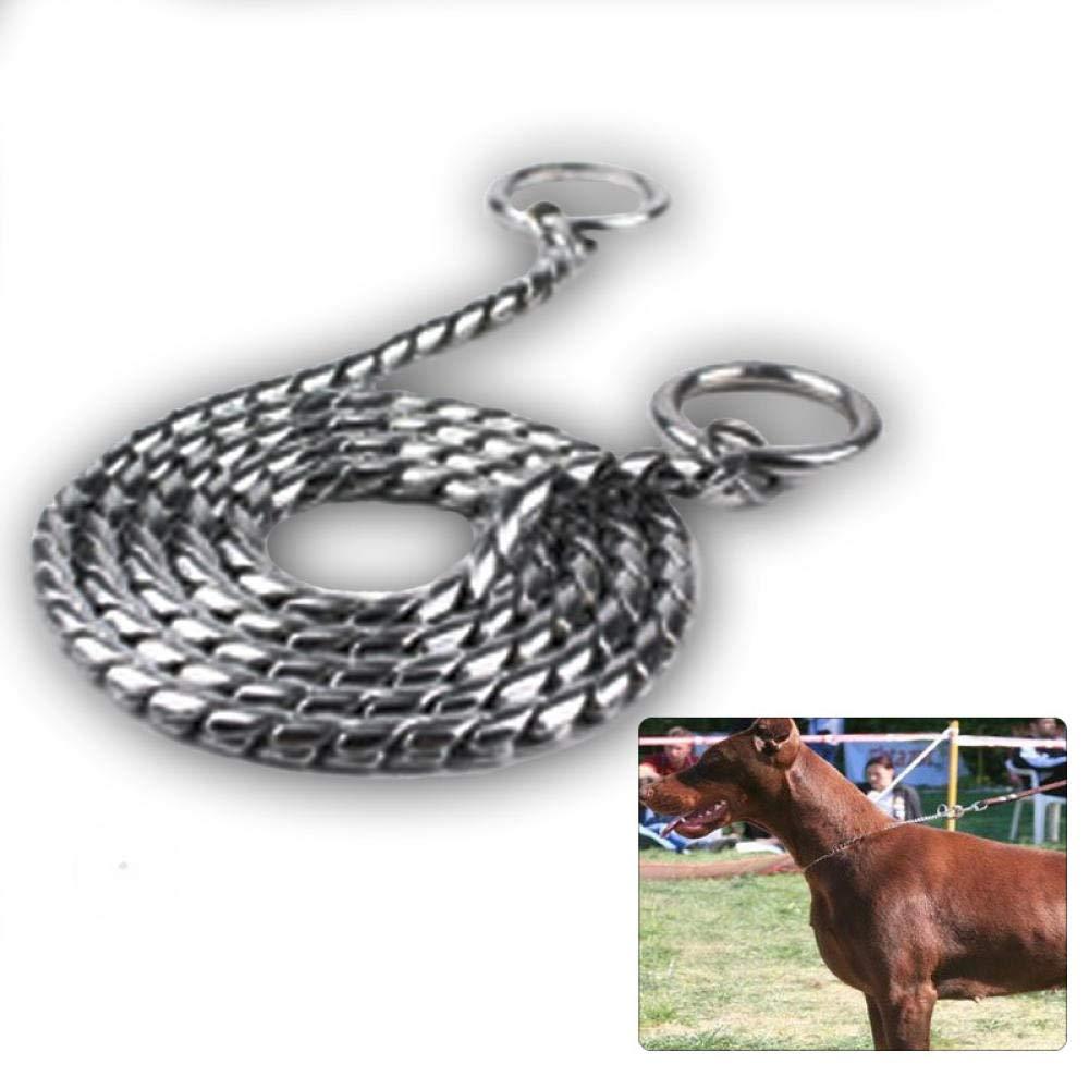 Collare per Canicollare per Cani da Competizione in Pelle per Animali da Compagnia con Catena A Forma di Cane Grande P Collare per Cane A Catena @ 60Cm 5Mm