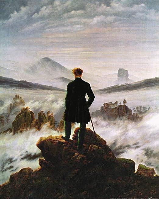 1art1 Caspar David Friedrich - El Caminante sobre El Mar De Nubes, 1818  Póster Impresión Artística (50 x 40cm): Amazon.es: Hogar