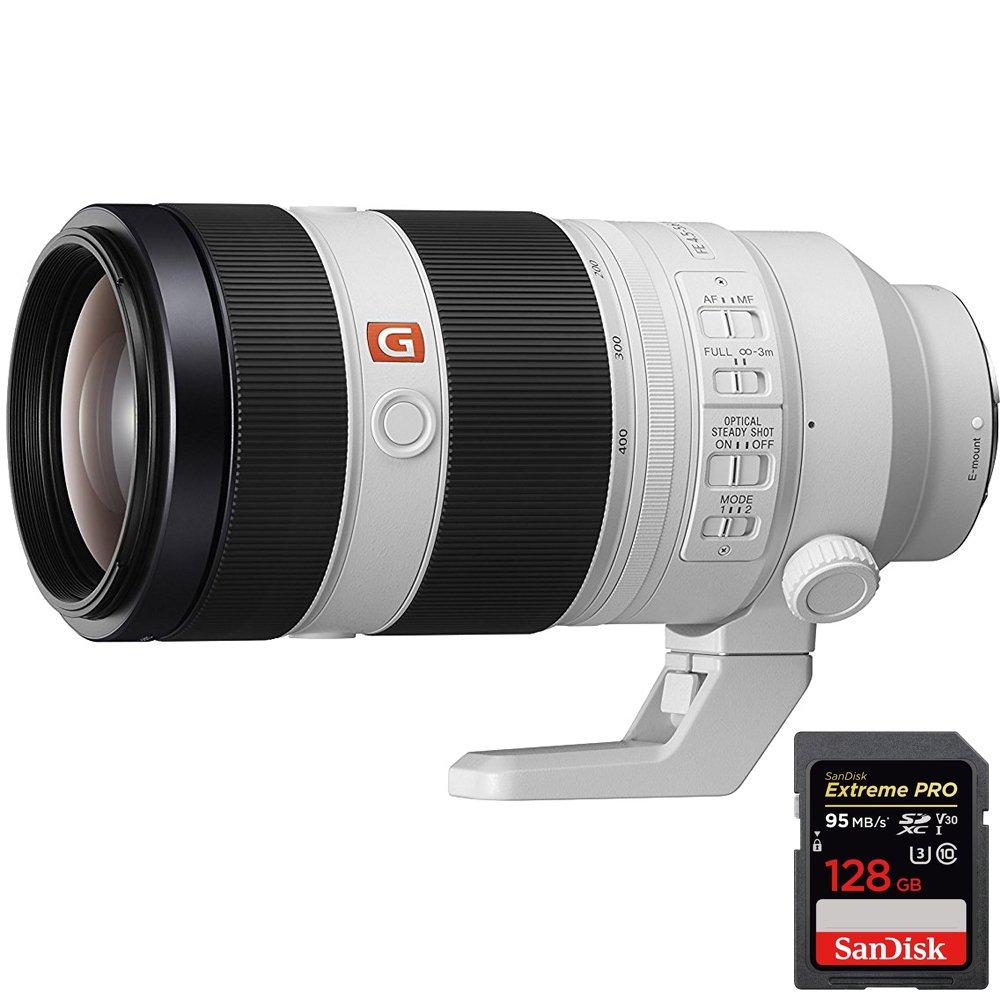 Sony FE 100-400mm f/4.5-5.6 GM OSS Full Frame E-Mount Lens SEL100400GM + Sandisk Extreme PRO SDXC 128GB UHS-1 Memory Card by Beach Camera