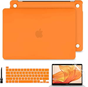 Batianda Hard Case for MacBook Pro 16 A2141 2019 2020, Smooth Matte Protective Shell with Keyboard Cover for Newest Mac Pro 16 inch Retina & Touch Bar, Orange