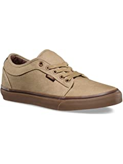 fabf101d9b Vans Chukka Low Mens Tan Canvas Lace up Sneakers Shoes 7