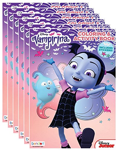 Bendon Disney Junior Vampirina 32-Page Coloring and Activity Books with Stickers (Pack of 6)