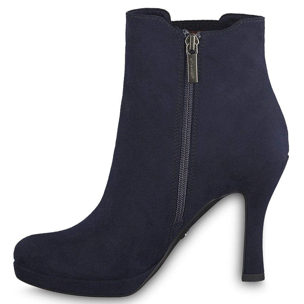 Tamaris Damen Stiefeletten Blau, Schuhgröße:EUR 41: Amazon