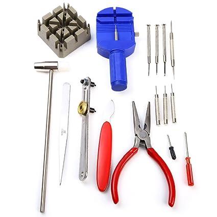 16 en 1 herramienta Kit de reparación de relojes Pin Remover para cambio de baterías y