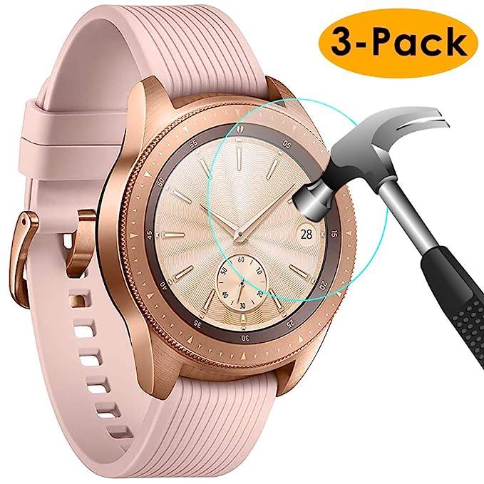 KIMILAR Pantalla Compatible con Samsung Galaxy Watch 42mm / Gear S3 Protector Pantalla, [3 Paquetes] Templado Vidrio para Galaxy Watch 42mm & Gear S3 ...