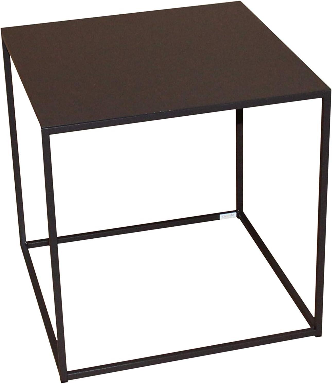 Caleido-Concept Mali - Mesa de Centro (Metal, Altura 50 cm), Color marrón Oscuro: Amazon.es: Juguetes y juegos
