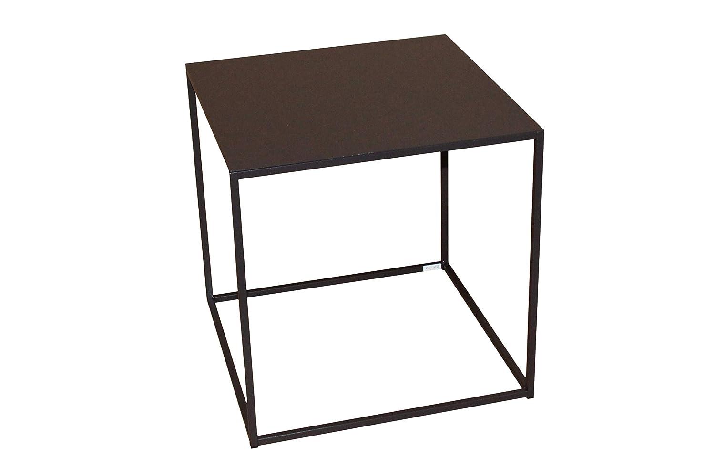 Caleido-Concept Mali - Mesa Auxiliar (Metal), Color marrón Oscuro ...