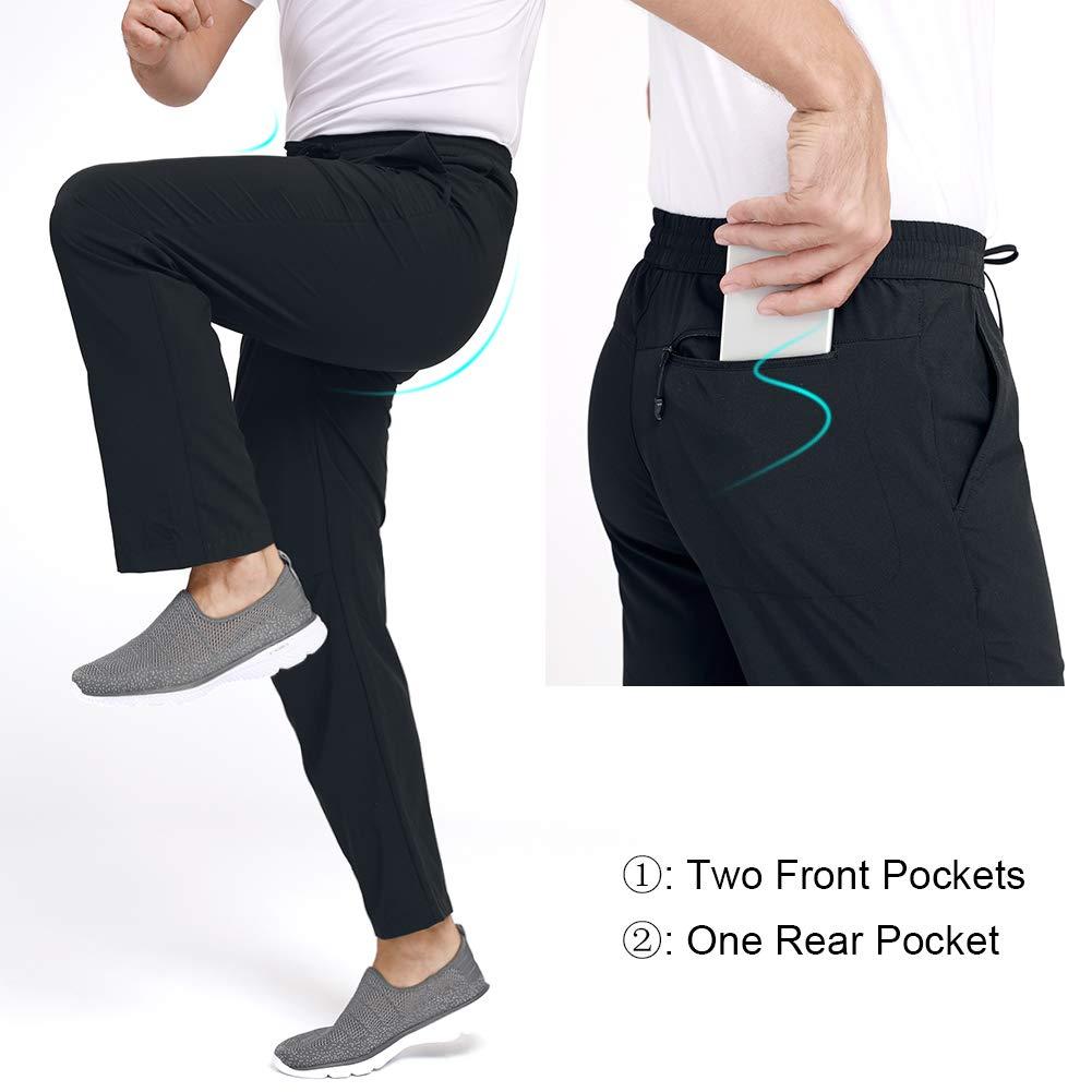 CAMEL Mens Quick-Dry Pants Travel Pants Ultralight Hiking Sweatpants Breathable Camping Sweatpants Summer
