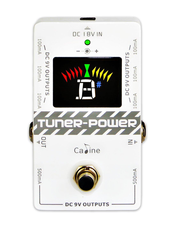 Caline CP-09 2-en-1 Sintonizador & Fuente de Alimentación True Bypass para DC 9V Guitarra Eléctrica Pedal de Efecto Ocho Salidas Aisladas Multifunción Compacto Portátil ammoon
