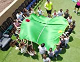 Merav Asher's soccer play parachute, School sports equipment, Family game, physical education equipment , Children Classroom Group activity, Party cooperative game, Summer camp,Soccer practice element