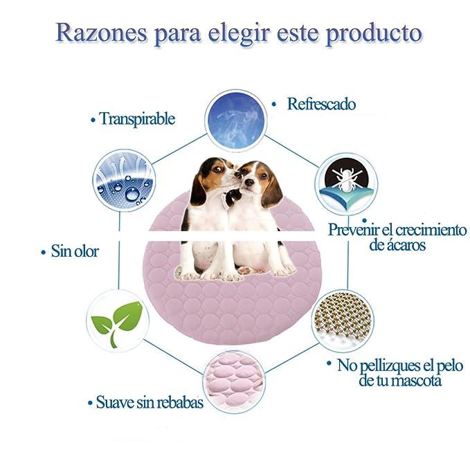 Alfombrilla de Refrigeración Animales Nevera y Manta para Perro Alfombra de colchones Manta de refrigeración Transpirable Alfombra de Dormir Suave y ...