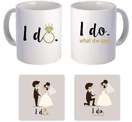 Buy Yaya Cafe Wedding Gifts For Bride Groom Funny I Do I Do What