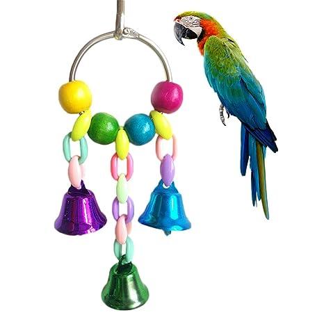 Namgiy Juguete para pájaros cascabeles para pájaros, loro, cacatúa ...