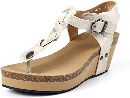 Sandalen Damen Sommer Plateau Flip Flops Keilabsatz Frauen Bohemian Zehentrenne Espadrilles Offene Flip Flop Sandaletten Wedge 7cm Schuhe Schwarz