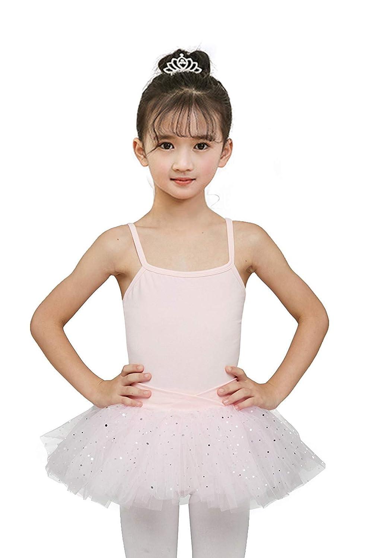 Gsha Girls Skirted Camisole Leotard Ballet Dance Tutu Dress Gymnastic Performance Clothes 2-10Years