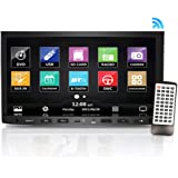 Premium Pyle 7-Inch Double-DIN Car Stereo Receiver with Bluetooth, Dash Touchscreen Screen, TFT/LCD Monitor, CD/DVD Player, Disc/MP3/MP4/USB/SD/AM/FM (NO Navigation Disc Included) (PLDNV695B)
