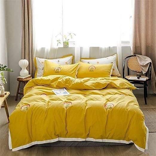 Juegos de cama amarillos for niñas Colcha arcoiris Completa Ropa ...