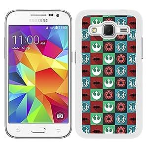 Funda carcasa para Samsung Galaxy Core Prime estampado de colores SW borde blanco