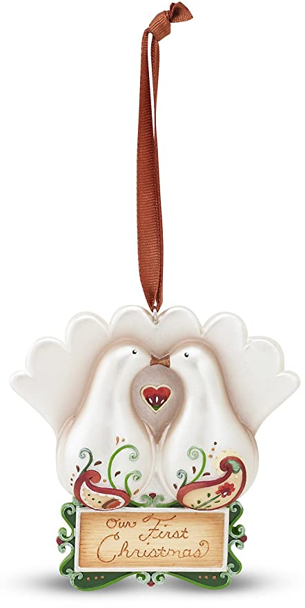 5aad0e832 Perfect Paisley Holiday by Pavilion Our First Christmas Ornament