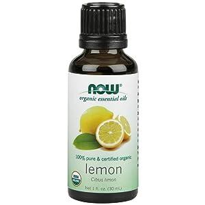 NOW Foods Organic Essential Oils Lemon - 1 fl oz