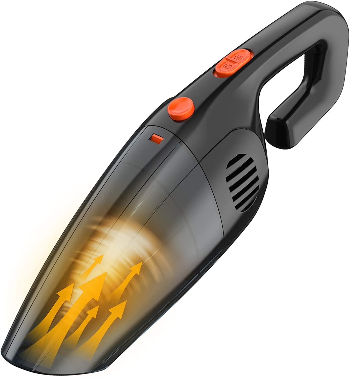 XUCOO Cordless Car Vacuum Cleaner - Portable Vacuum Cleaner for Car - 8000PA High Power Handheld Vacuum USB Charging - Wet/Dry Use,Rechargeable,2200mAh Lithium Battery - Black