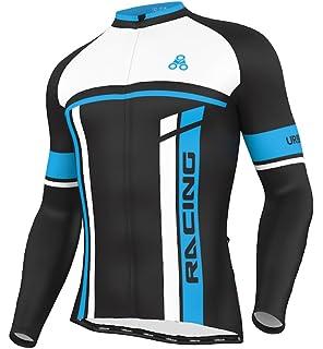 588d637f8 Amazon.com   NUCKILY Men s Bicycle Jersey Set Long Sleeve Fleece ...