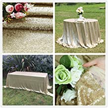 "SoarDream 36""x36"" Matte Gold Sequin Tablecloth Elegant Sparkle Sequin Table Cloth On Sale"