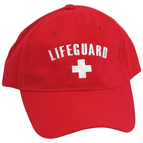 a628c6dadb4428 Amazon.com: Low Profile Red Lifeguard Hat: Sports & Outdoors