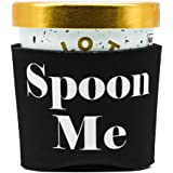 Ice Cream Pint Cozy Holder Sleeve | Spoon Me | Insulated (Black)