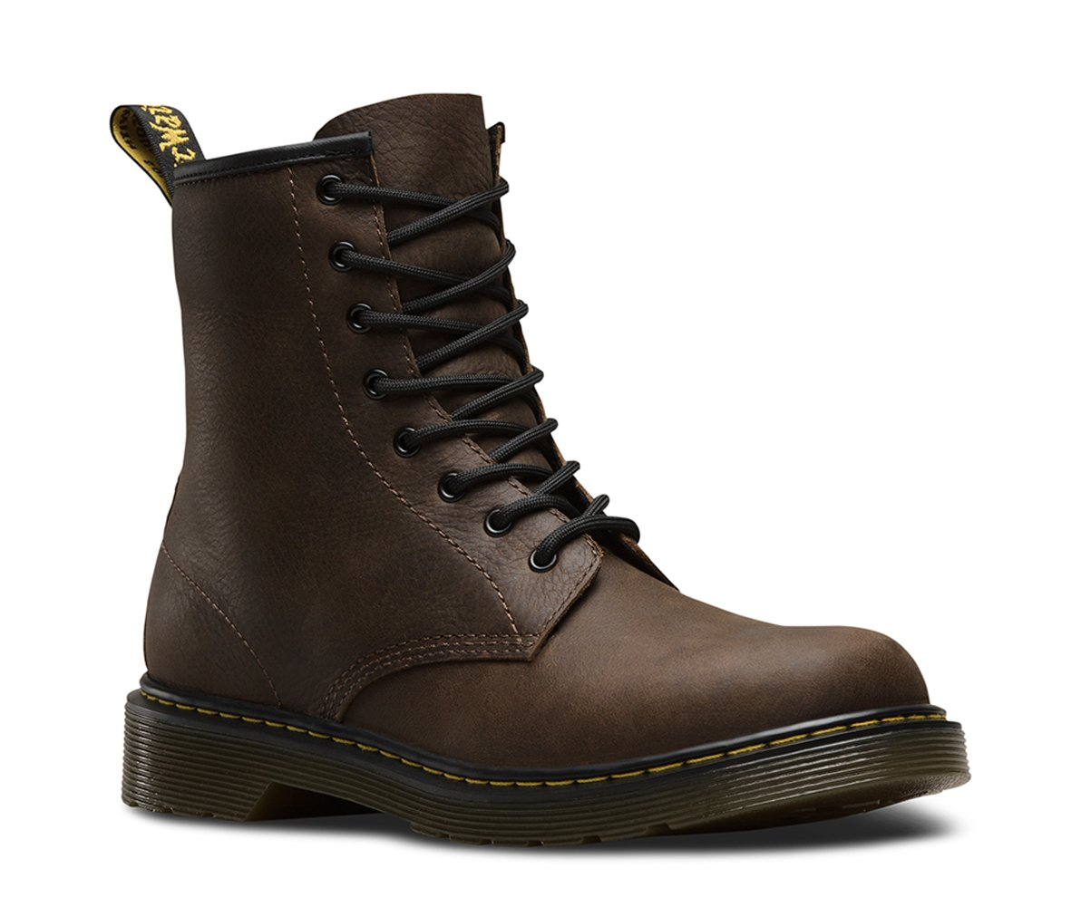 Dr. Martens Kid's Delaney Lace Casual Boots, Brown Leather, 4 Big Kid M UK, 5 M by Dr. Martens