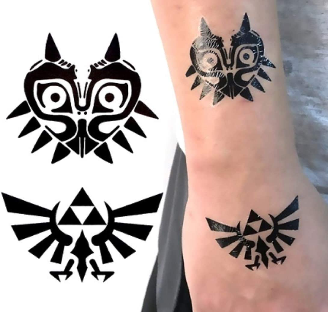 Amazon Com The Legend Of Zelda Diy Temporary Body Art Tattoo Sticker Set Of 2 Health Personal Care I just find them to be completely intriguing. the legend of zelda diy temporary body art tattoo sticker set of 2