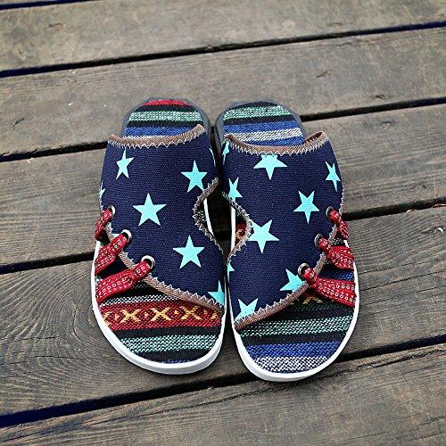 Xing Lin Sandalias De Hombre Verano Flip-Flops Hombres Zapatillas Casual Hombres Marea Sandalias De Playa Gruesa Antideslizante Shoes AB