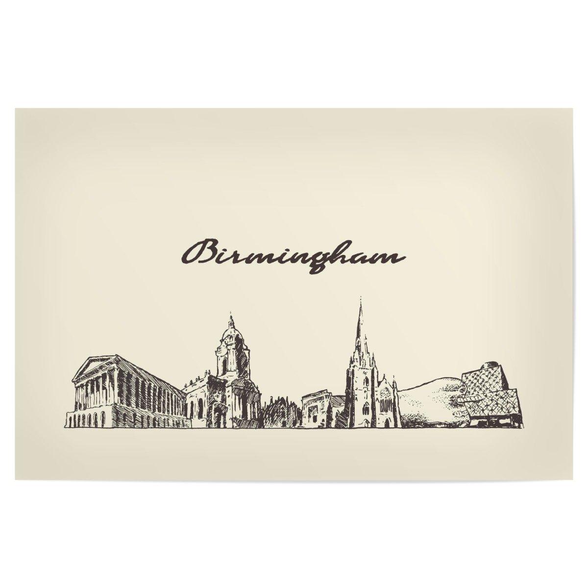 Amazon.de: artboxONE Poster 150x100 cm Städte Birmingham ...