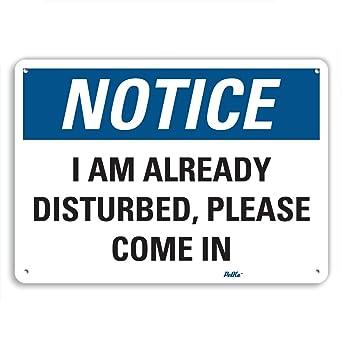 petka signs and graphics pkfo 0107 na 10x7 i am already disturbed