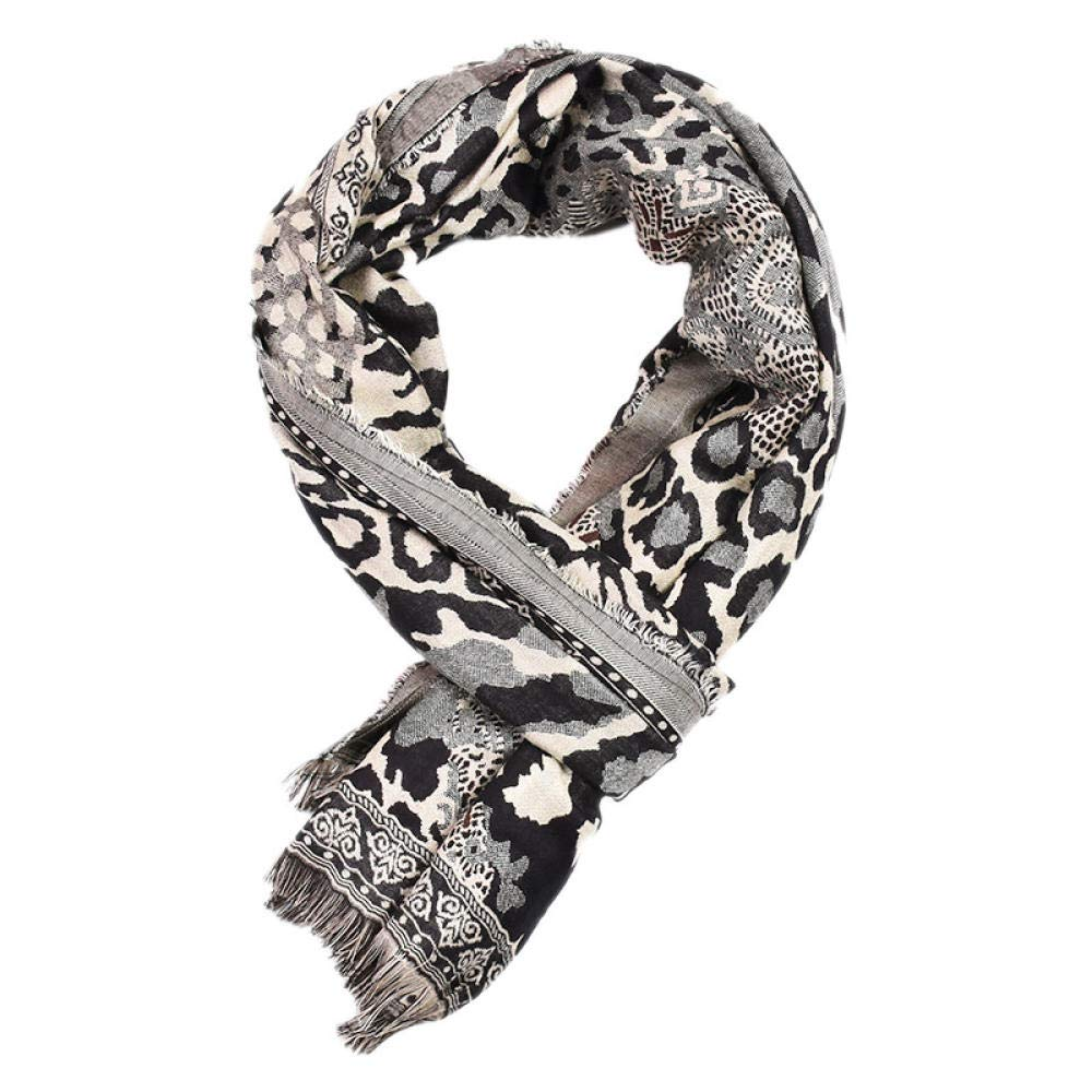 Mens leopard print zebra warm scarf shawl autumn and winter