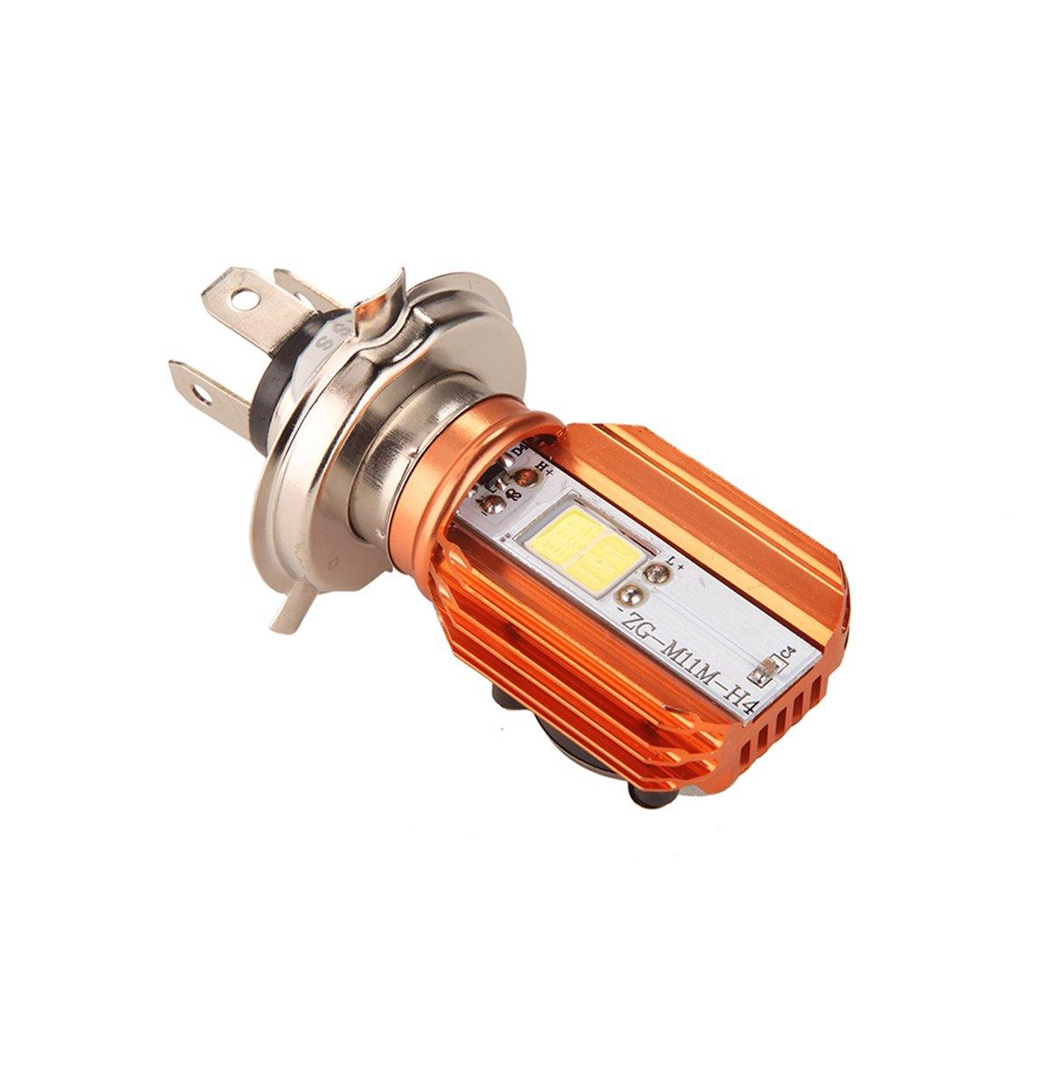 CLighting LED Motorcycle Headlight Bulb H4 Moto Headlamp with Cooling Fan DC9-100V 20W Hi/Lo Beam Lights for BMW Suzuki Yamaha Kawasaki Honda (Pack of 1) 4333003599