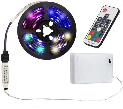 2 M DEL Barre de strip E Bandes Lumière Bande Avec Batterie Box à piles rouge