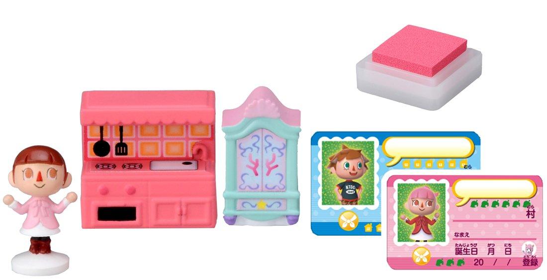 Amazon.com: Takaratomy Animal Crossing New Leaf Girl And The Furniture  Figure Stamp Set: Toys U0026 Games