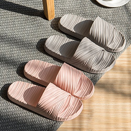 Sandal Slip Shower with Foot Fashion Indoor Slippers Massage Women Non Summer Pink and Bathroom Slipper Men's qv0rq