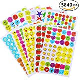 #8: 5840 PCS Teacher Reward Stickers for Kids Teacher Stickers Bulk,Consist of Emojis,Smiley Faces,Stars,Best for Parents,Classroom,or School Supplies Using in Chart,Reports,Games and Creativity