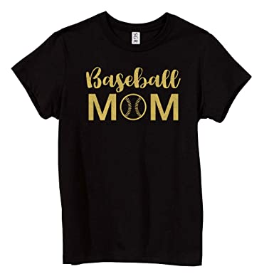 cd0fb0f48fc24 Sexy Girl Rock Baseball Mom Glitter T-Shirt at Amazon Women's ...