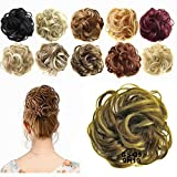 FESHFEN Synthetic Hair Bun Extensions Scrunchy Messy Hair Scrunchies Hair Pieces for Women Updo Ponytail Hair Extensions Hair Donut Hair Chignons Hair Accessories