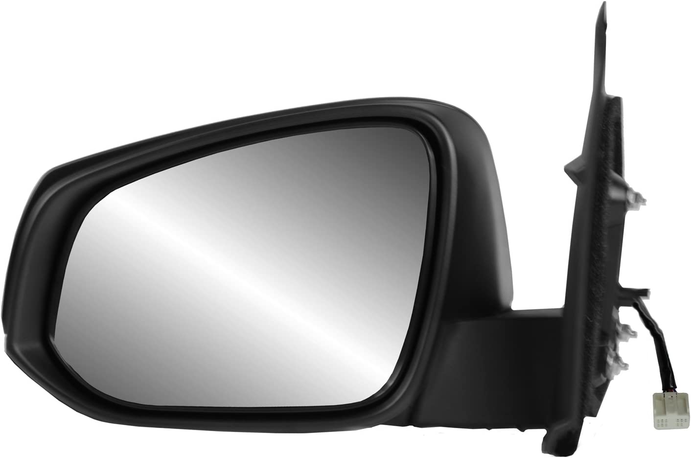 Heated Power w//o spot Mirror Driver Side Mirror for Toyota Tacoma Textured Black w//o Puddle lamp w//o Blind spot Detection System Foldaway